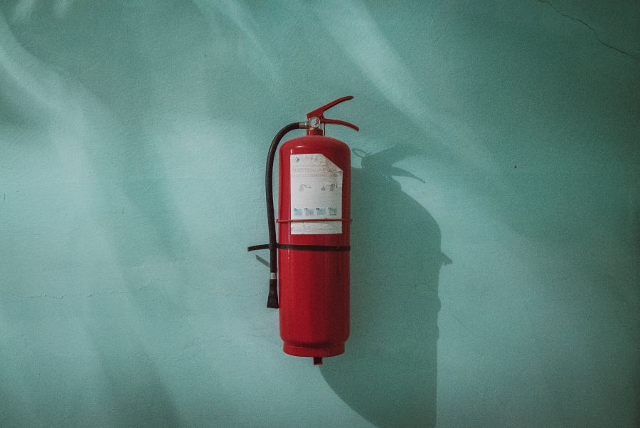 Photo by Piotr Chrobot on Unsplash Fire extinguisher
