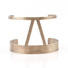 rural ruler brass cuff bracelet