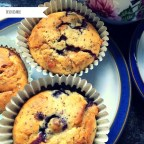 Marzipan and Blueberry Muffins