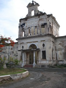 The ruins of a 19th century city hospital.