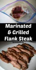 Marinated & Grilled Flank Steak | theschmidtywife.com