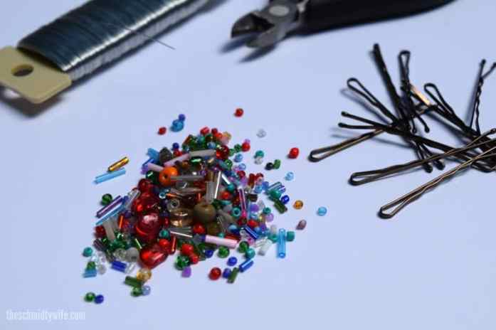 DIY Beaded Bobby Pin - Supplies