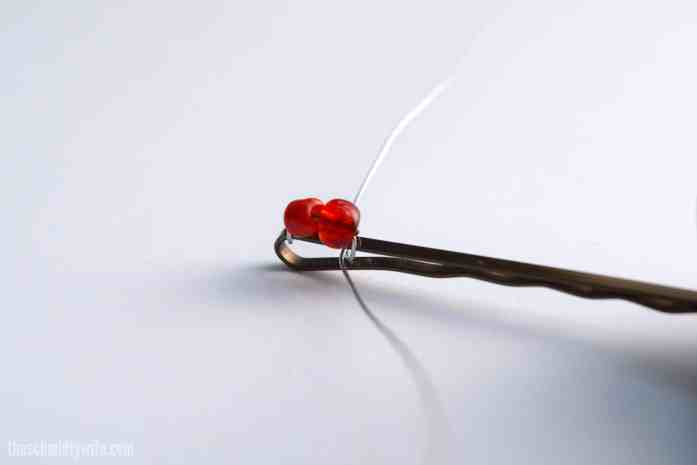DIY Beaded Bobby Pin - step 5