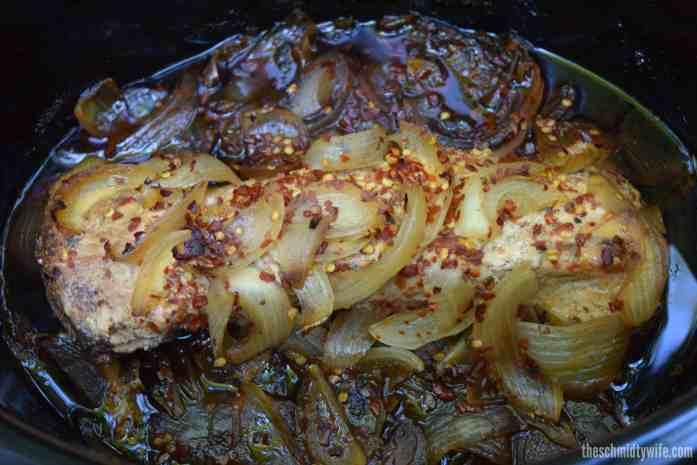 Spicy Balsamic Crockpot Pork Loin