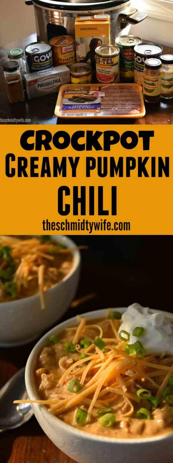Crockpot Creamy Pumpkin Chili