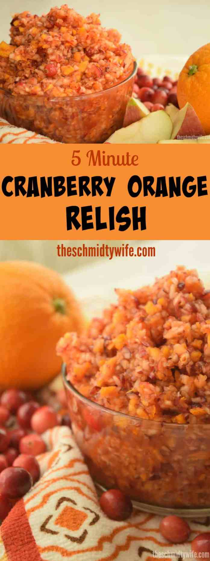 5 Minute Cranberry Orange Relish