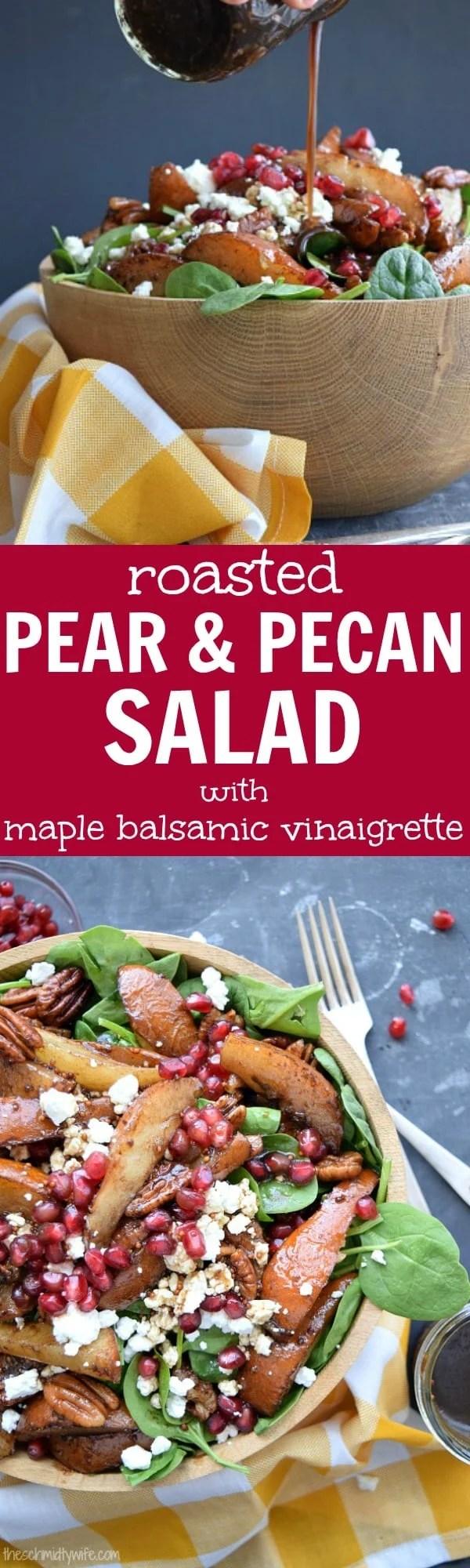 Roasted Pear Pecan Salad