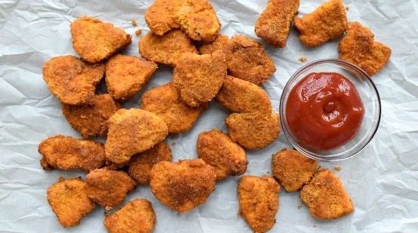 Healthier Baked Chicken Nuggets