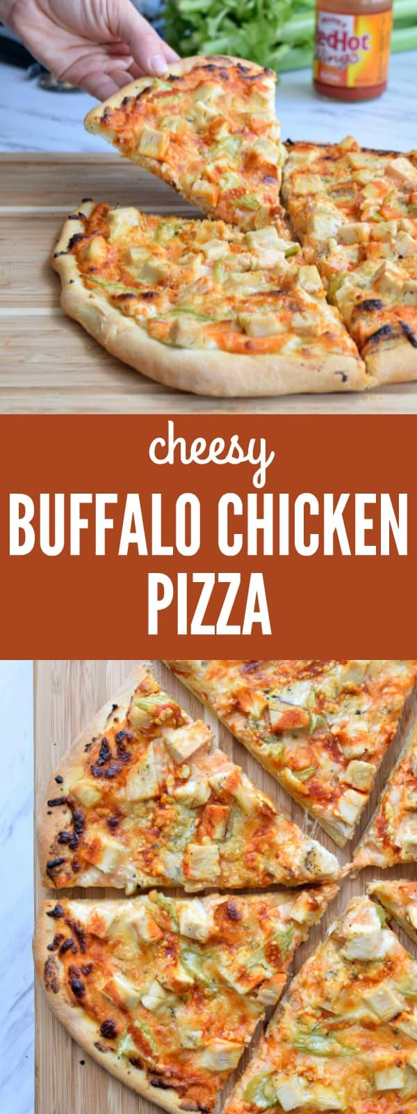 Cheesy Buffalo Chicken Pizza