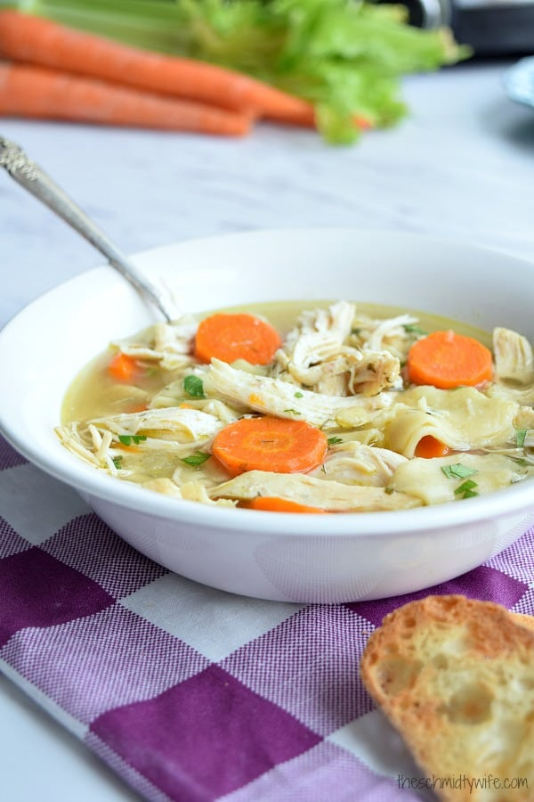 Homestyle Crockpot Chicken Noodle Soup