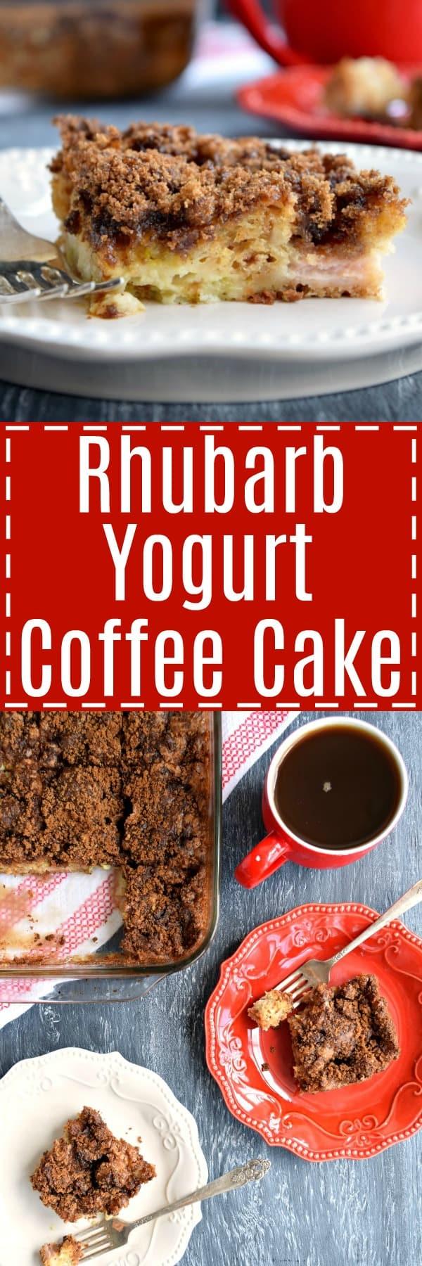 Rhubarb Yogurt Coffee Cake