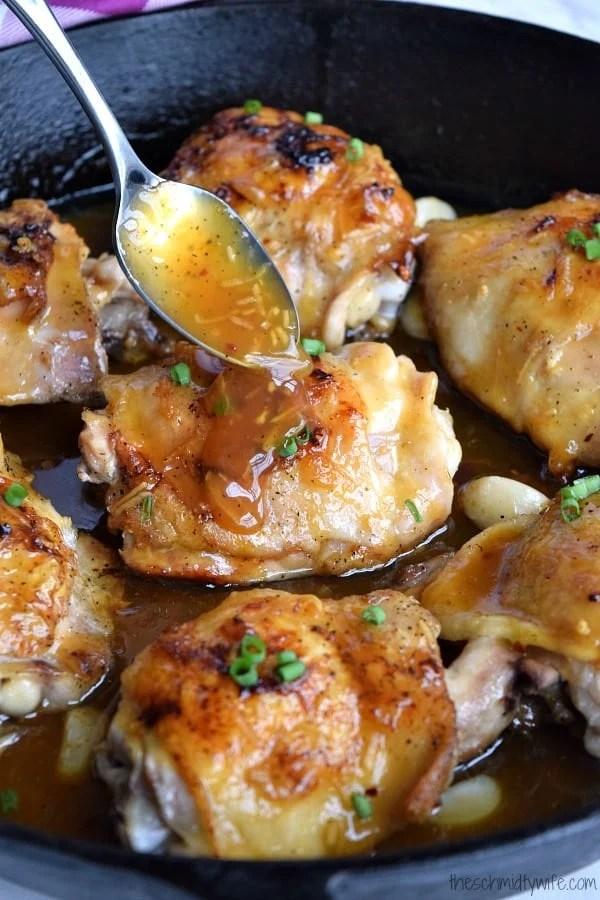 Sticky Orange Chicken Thighs