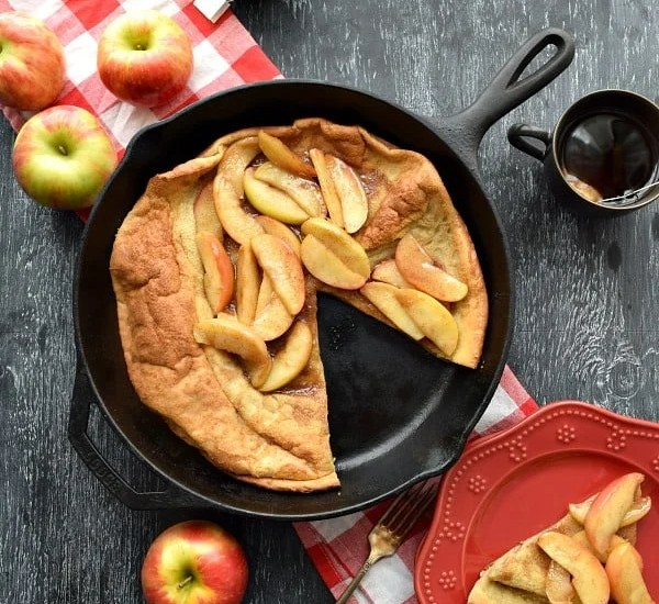 Cinnamon Apple Topped Dutch Baby