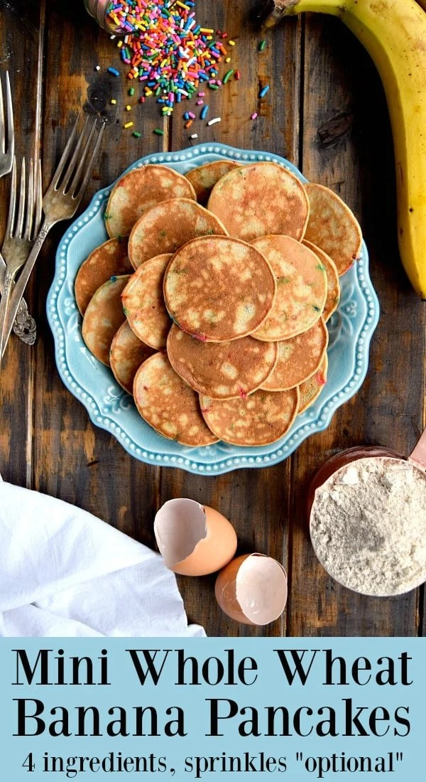 Mini Whole Wheat Banana Pancakes