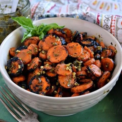 Pesto Grilled Carrots Recipe