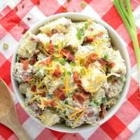 Healthier Bacon Ranch Potato Salad