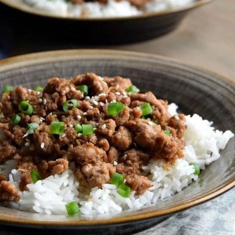 Korean Ground Turkey & Rice Bowls
