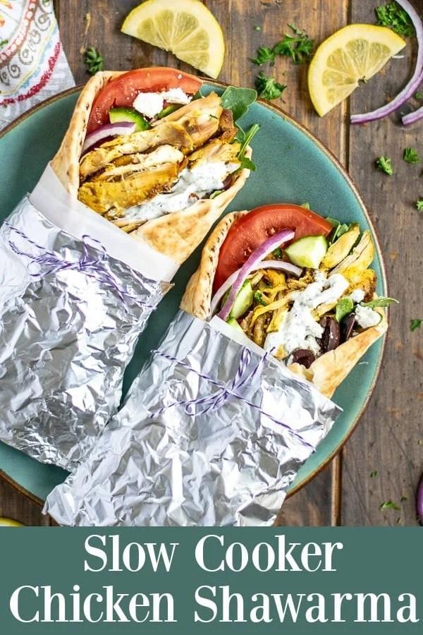 Easy Slow Cooker Chicken Shawarma