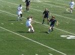 Junior Maria Zandi and senior Carina Wilden defending against a quick Ike offense.