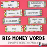 Using Big Money Words in Science