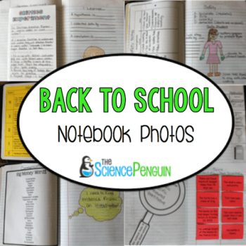 Back to School Science Notebook Photos