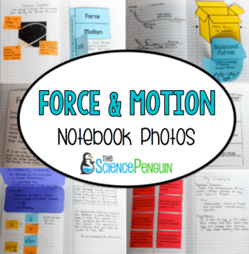 Force and motion notebook photos and ideas