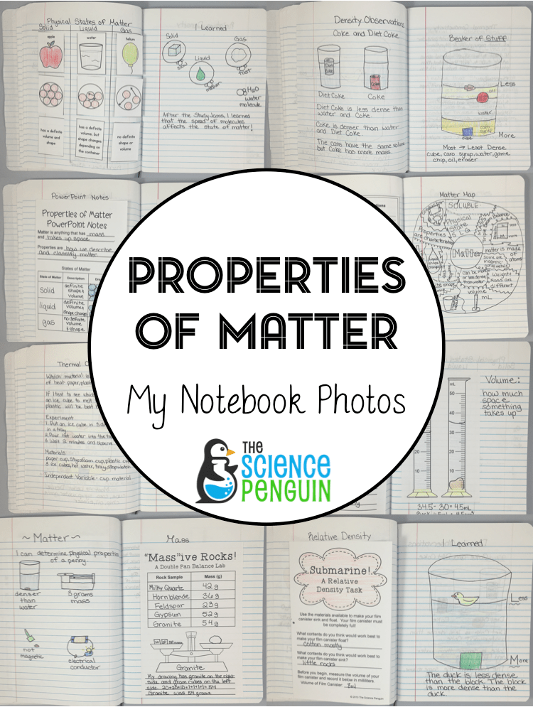 New Notebook Blog Series: Properties of Matter