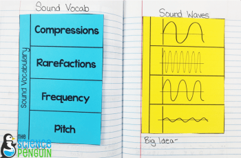 Forms of Energy Notebook Pics: sound vocabulary and waves