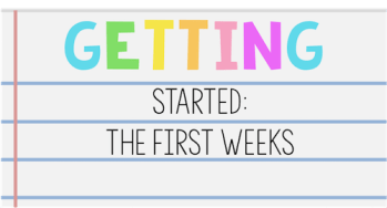 Getting started with students: the first weeks