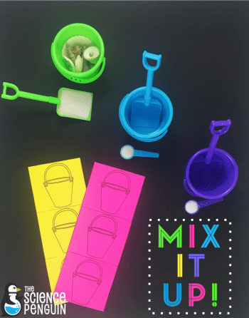 Engage your students in science vocabulary instruction with theme days! For mixtures and solutions vocabulary, we used a beach theme.