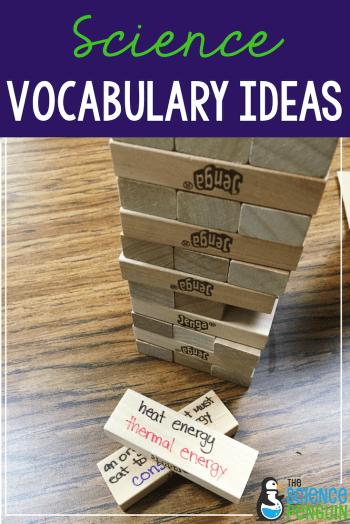 Science Vocabulary Ideas: Jenga