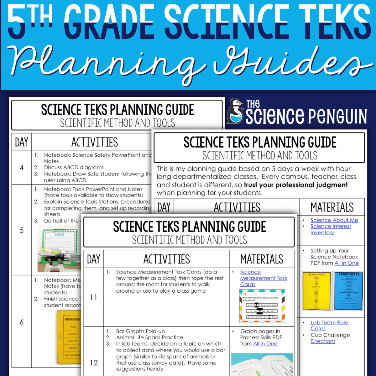 5th Grade Science TEKS Planning Guides
