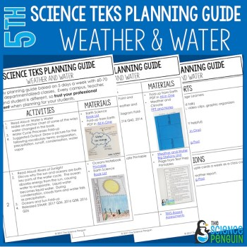 Weather and Climate and Water Cycle {5th Grade Science TEKS Planning Guide}