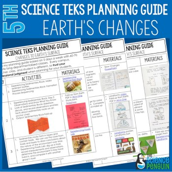 Changes to Earth's Surface 5th Grade TEKS Planning Guide