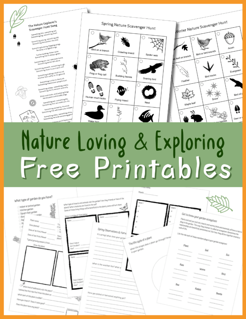 Sign up for free printables and freebies about nature and exploring the outdoors with children. Nature-themed activities, ideas and games.