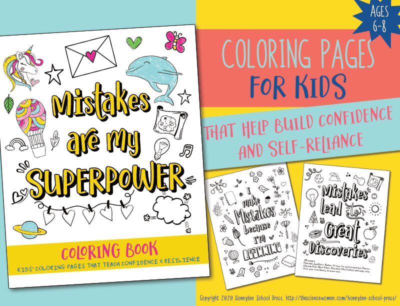 Try out Mistakes Are My Superpowers by downloading two free coloring pages from the book.