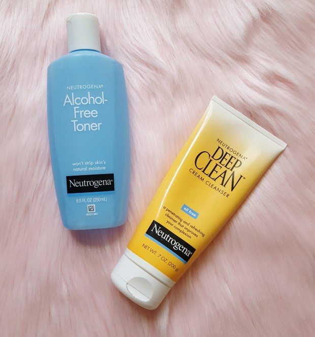 Neutrogena face products