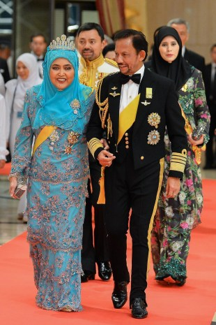 Their Majesties leave the banquet hall. Photo: Infofoto