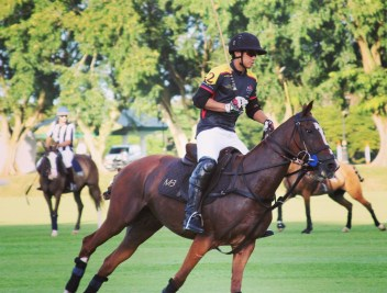 HRH Prince 'Abdul Mateen competing in the Golden Jubilee polo tournament in Jerudong. Photo: Ubaidillah Masli