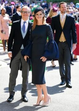 'Suits' actress Sarah Rafferty arrives at St George's Chapel. Photo via Twitter