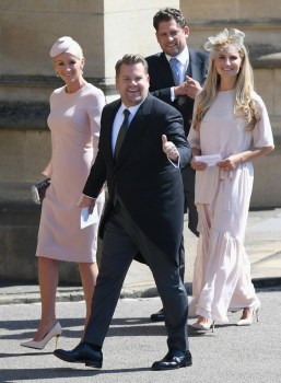 Talk show host James Corden arrives at St George's Chapel. Photo via Twitter