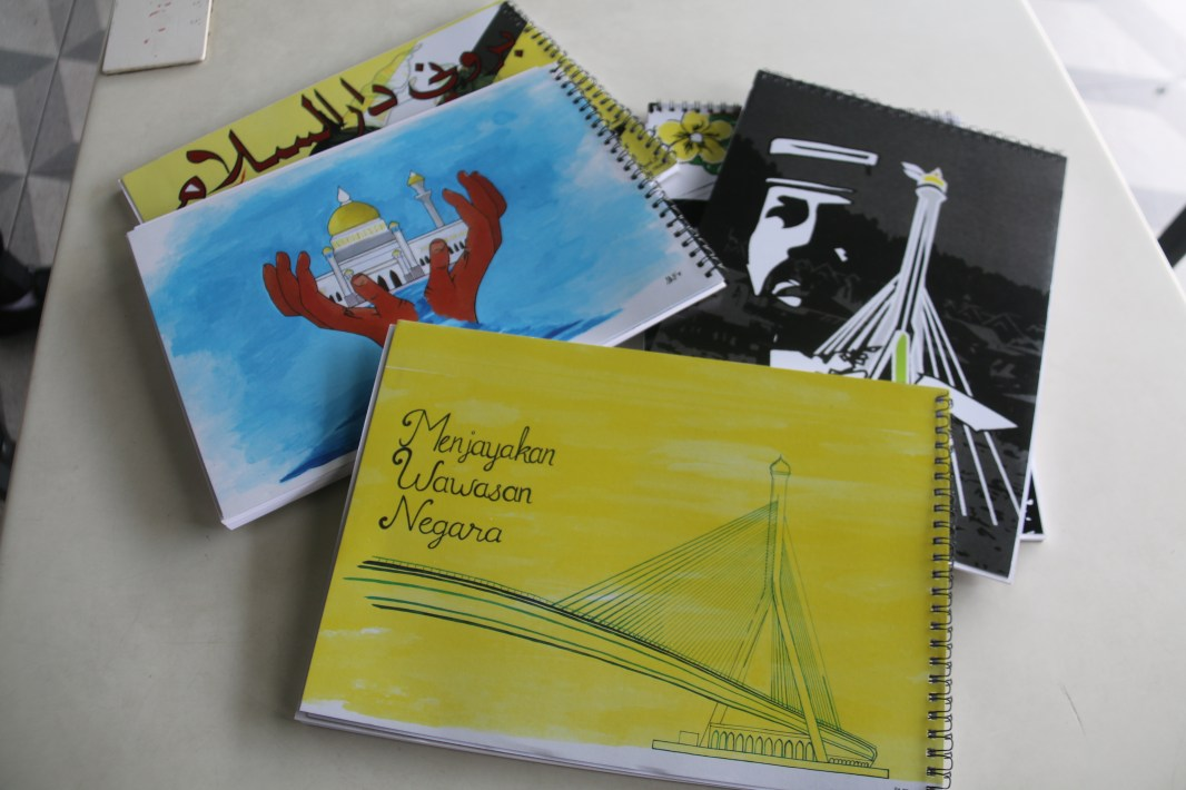 A4 and A5 artblocks featuring local artworks on the cover. Photo: Rafidah Hamit/The Scoop