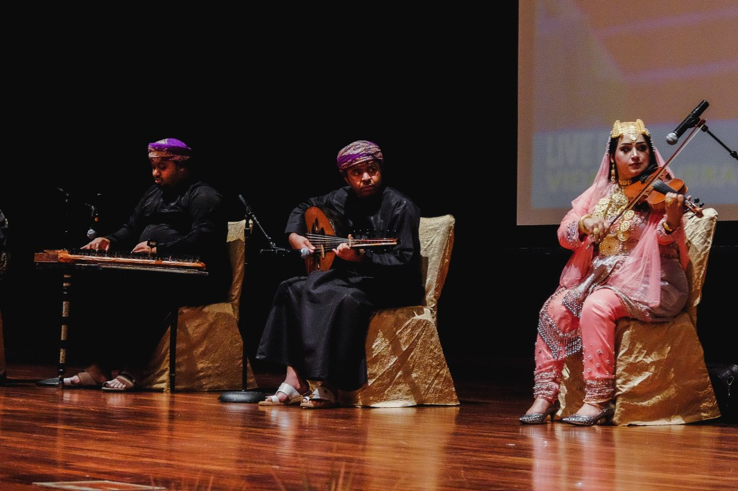 Live musical performance by Omani Music Band during the Omani Cultural Night. Feb 28, 2019. Photo: Hazimul Wa'ie/The Scoop