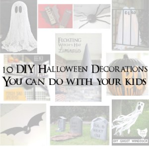 10 DIY Halloween Decorations you can do with your kids