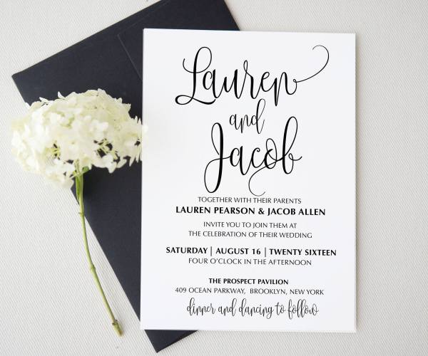 First Name Etsy Wedding Invitations