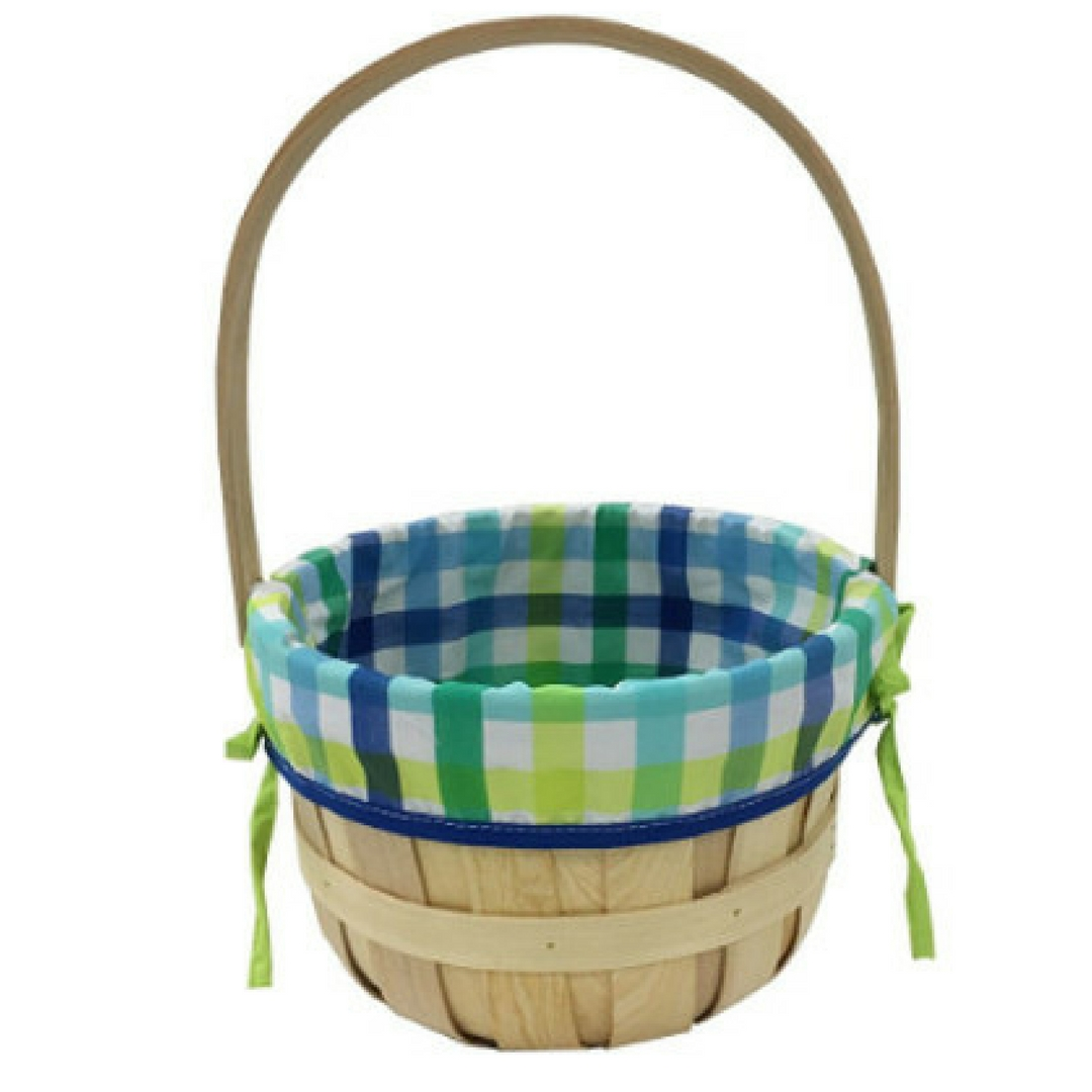 Chipwood Easter Baskets for kids with Blue Liner