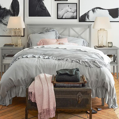 Ruffle duvet cover country bedding and sham