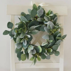 Lambs Ear and Eucalyptus Wreath-The Scoop for Mommies