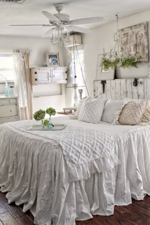 Ruffled Chenille Bed Scarf, it doesn't get any better. Add that piece of texture to your shabby chic or farmhouse decor. So soft and comfy, washed and dried for your comfort. White and Natural
