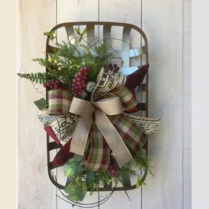 Tobacco Basket Wreath-The Scoop for Mommies
